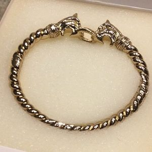 Stella & Dot Vintage Gold Chimera Bangle Bracelet